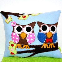 Owl Pillow Applique Pillow