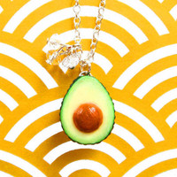Avocado Necklace Single by kawaiiculture on Etsy