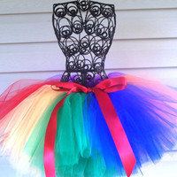 Rainbow Tutu Primary Colors 05T Birthday by FromDiapers2Divas