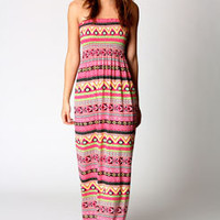 Alice Aztec Shirred Maxi Dress
