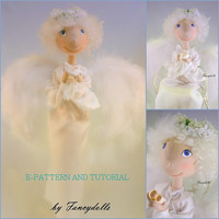 Cloth Doll Sewing Pattern & Tutorial Angel PDF by FancyDolls