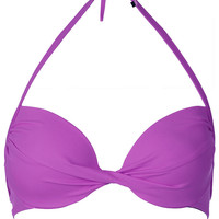 Ultra Violet Plunge Bikini Top - Swimwear - Clothing - Topshop