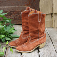Vintage Suede Boots, Sweet Country Inspired Vintage Clothing