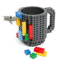 Build-On Brick Mug - Black