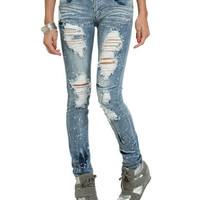 Paint Splatter Destroyed Jean | Shop Jeans at Wet Seal