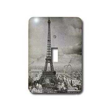 3dRose LLC lsp_6793_1 Eiffel Tower Paris France 1889 Black and White, Single Toggle Switch - Amazon.com