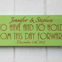 Personalized Wedding Vow Sign Art Deco Style