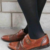 Vintage brown shoes (stripes) | E-Vintage | ASOS Marketplace
