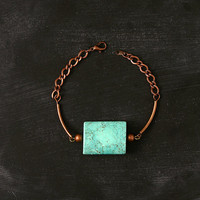 Geometric turquoise bracelet - the no. 032-