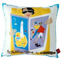 Retro To Go: Whitley Bay cushion by Michelle Mason