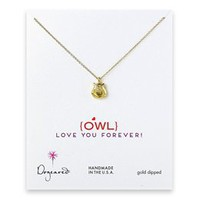 "Art Effect | Dogeared Jewelry - Dogeared ""Owl Love You Forever"" Gold Necklace"