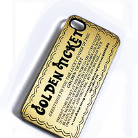 $19.00 iPhone Case Golden Ticket iPhone Hard Case / by TheCuriousCaseLLC