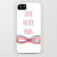 Love Never Ends iPhone Case by Shawn Terry King | Society6