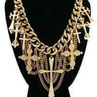 Sincerely Exclusive — La Dolce Vita Style Gold Chain Cross Necklace