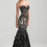 Night Moves 6652 Black Mermaid Dress