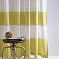 Stripe Shower Curtain - Citron