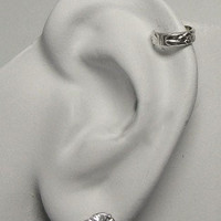 MINI Ear Cuff Cartilage Clip Sterling Silver Daisy Ear Band Non-pierced Wrap MC124SS