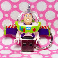 LEGO Toy Story Buzz Lightyear 4GB USB Flash Drive Keychain