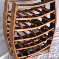 EcoVolveNow Wine Barrel Wine Rack - 100% recycled Napa valley barrel