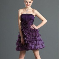 Purple Layered Cocktail Dress