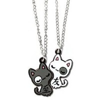 """Best Friends"" Cats Necklaces by Sugar Bunny Shop: Jewelry: Amazon.com"