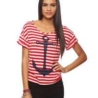 Striped Anchor Tee | FOREVER21 - 2000036089