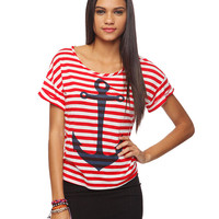 Striped Anchor Tee