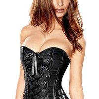 Frederick's of Hollywood Biker Girl Corset Womens