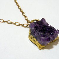 Vibrant Amethyst Necklace by nubambu on Etsy