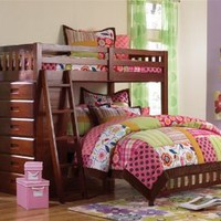 Amazon.com: Twin Over Full Loft Bed in Merlot: Furniture & Decor