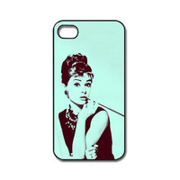 Audrey Hepburn iPhone 4 / 4s / 5 case/cover. Silicone rubber / Hard Plastic