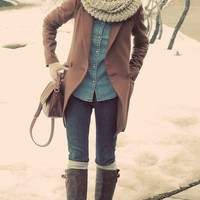 The Style I want / scarf, boots, yes.