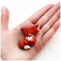 Little funny brooch Fox Cub by IrenkaR on Etsy