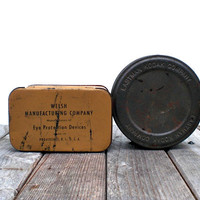 Vintage industrial tins Alternative masculine by WhiteDogVintage