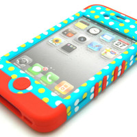 Red Soft Skin Case Polka...