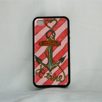 French Valentine, iPhone case, iPhone cover, iPhone 4/4s, anchor, women, pink, romance, i love you, one of a kind, preppy, art