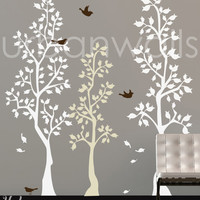 Vinyl Wall Sticker Decal Art - Spring Trees