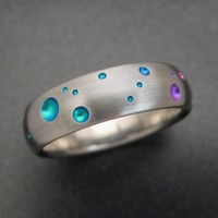 $75.00 Titanium Rainbow Ring by patrickburt on Etsy