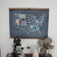 Chalkboard United States Map