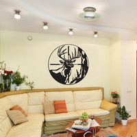 Vinyl Wall Decal Deer Scope Hunting    GFoster105s