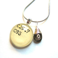 Dewey Decimal and Smoked Topaz Sterling Silver by writtennerd