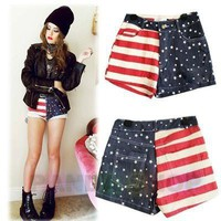 Free Shipping! National Flag Denierfm Shorts