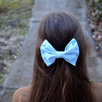 Solid Sky Blue Bow