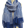 Handmade and Naturallly Dyed Indigo Polka Dot Scarf