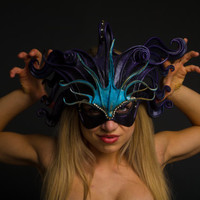 Ocean Medusa Headdress Face Mask