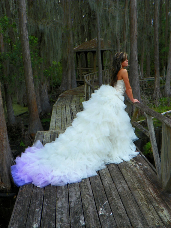 Indigo princess ombre purple bridal from for Purple ombre wedding dress