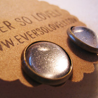 summer nights  full moon metallic silver sparkle by eversolovely