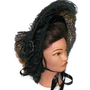 Black Velvet Lace Victorian Dress Bonnet Civil War Mourning Hat