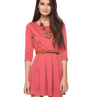 Box Pleated 3/4 Sleeve Dress | FOREVER21 - 2000036086