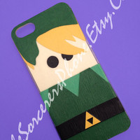 HAND MADE... Mod Podge Link Zelda Nintendo iPhone 4 / 4s  and iPhone 5. Phone Case